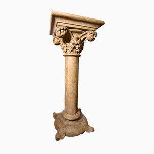 Lackierte italienische Vintage Säule aus Holz mit korinthischem Kern