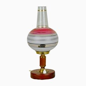 Tulip Tischlampe in Pink & Weiß, 1960er