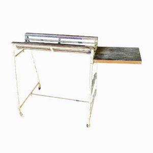Italienischer Mid-Century Werktisch aus Eisen-Metzgerei, 1950er