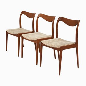 Mid-Century Swedish Teak Dining Chairs by Johannes Andersen for Johansson & Soner, Set of 6