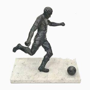 Footballist Skulptur mit Marmorfuß, 1930er