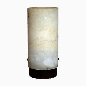 Mid-Century Alabaster Röhrenlampe, 1950er