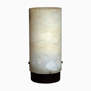 Mid-Century Alabaster Tube Lamp, 1950s