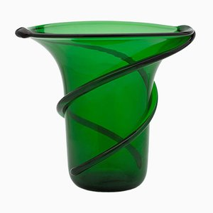 Green Stripe Vase by Eligo