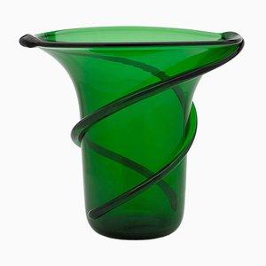 Jarrón verde con franjas de Eligo