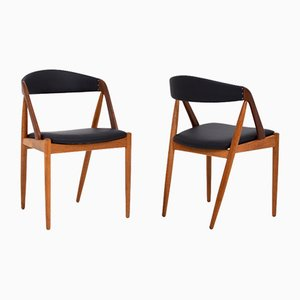 Dining Chairs by Kai Kristiansen for Schou Andersen, 1960s, Set of 4