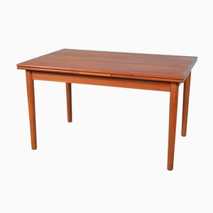 Mid-Century Danish Extendable Teak Dining Table, 1960s