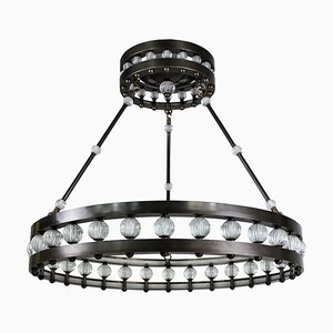 Large Art Deco Style Crown Chandelier