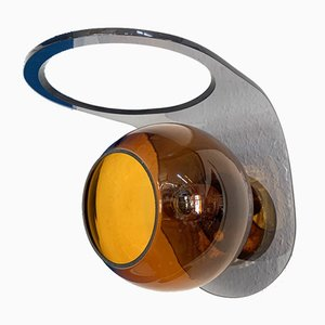 Space Age Acrylic and Amber Glass Sconce, 1960s