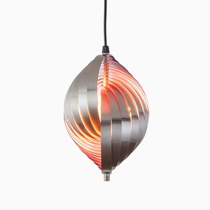 Colored Twirling Pendant Lamp by Henri Mathieu, 1970s