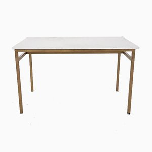 Vintage Metal and Marble Dining Table, 1960s