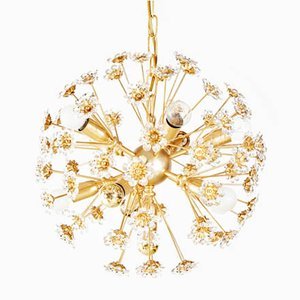 German Golden Sputnik Pendant Lamp from Palwa, 1970s