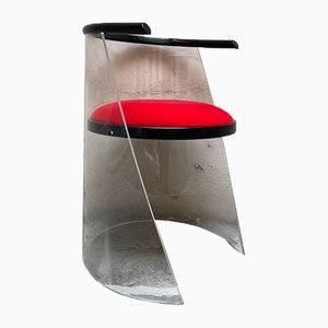 Vintage Plexiglass Lounge Chair, 1980s