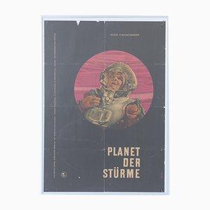 Vintage Planet of Storms USSR Filmplakat von Merten für Progress Film, 1962