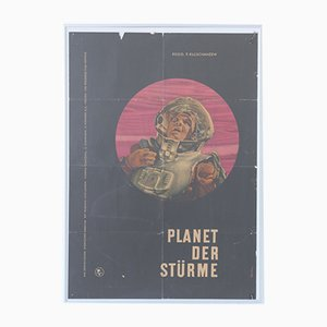 Vintage Planet of Storms USSR Movie Poster by Merten for Progress Film, 1962