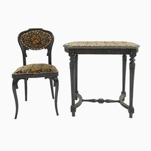 Antiker österreichischer Tisch und Stuhl Set von J & J Kohn, Thonet für J & J Kohn, 1900er