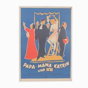 Vintage Papa Mama Katrin and I Movie Poster from Progress Film, 1950s