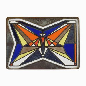 Mid-Century Mid-Century Enamel Butterfly Door Handle