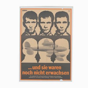 Vintage And They Were Not Grown Up Yet Movie Poster by Fritsche + Schubert for Progress Film, 1967