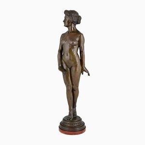 Escultura Art Déco de pie desnudo de Wilhelm Oskar Prack, años 30