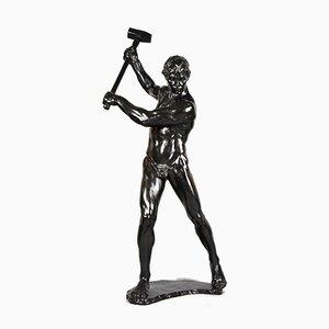 Männlicher Akt mit Vorschlaghammer Skulptur von Gerhard Adolf Janensch, 1920er