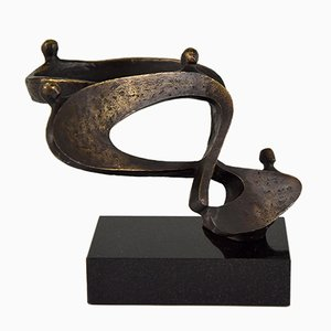 Abstract Bronze Sculpture by Can, 1970s