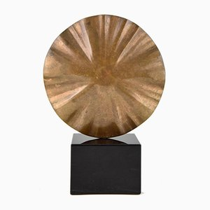 Abstract Bronze Sculpture by Claudio Capotondi, 1979