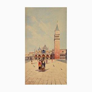 Aquarell von Venice Women at San Marco von Sattio