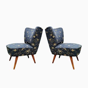 Night Blue Cocktail Chairs from Artifort, 1960s, Set of 2