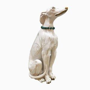Italienischer Hund aus Keramik, 1950er