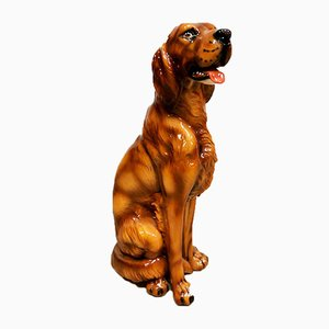 Ceramic Dog Sculpture, 1960s