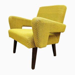 Czech Mellow Yellow Lounge Chair from Tatra, 1950s