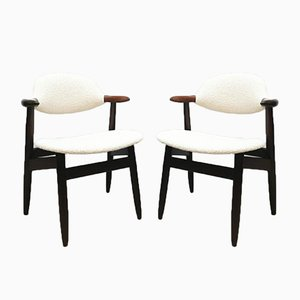 Cowhorn Dining Chairs from Hulmefa Nieuwe Pekela, 1950s, Set of 4