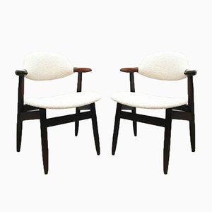 Cowhorn Esszimmerstühle von Hulmefa Nieuwe Pekela, 1950er, 4er Set