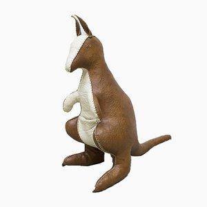 Leder Känguru im Stile von Dimitri Omersa, 1960er