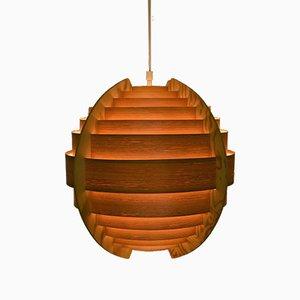 Swedish Ellysett Pine Sphere Pendant Lamp by Hans-Agne Jakobsson, 1960s, Set of 2