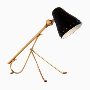 Swedish Brass Table or Wall Lamp by Falkenbergs Belysning, 1950s