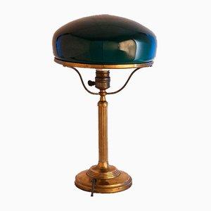 Swedish Art Nouveau Jugendstil Brass and Glass Table Lamp, 1925