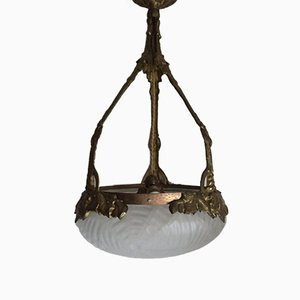 Swedish Art Nouveau Pendant Lamp, 1900s