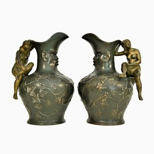 Art Nouveau Pitchers by Charles Theodore Perron, 1900s, Set of 2