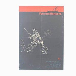 Vintage Far on the Horizon Filmposter von Klemke für Progress Film, 1960er