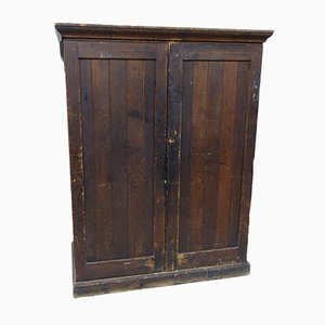 Victorian Pine School Cupboard with Distressed Paint Finish