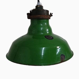 Green Enamel Industrial Ceiling Lamp