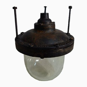 Lampe Dome Industrielle Antidéflagrante, 1940s