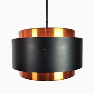 Copper Saturn Pendant Lamp by Jo Hammerborg for Fog & Morup Denmark, 1960s