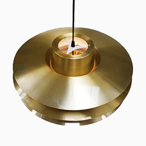Danish Brassed Verona Pendant Lamp by Svend Middelboe for Nordisk Solar, 1970s