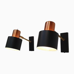 Alfa Wall Sconces by Jo Hammerborg for Fog & Mørup, 1966, Set of 2