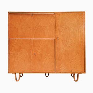 CB01 Birkenholz Schrank & Schreibtisch von Cees Braakman für UMS Pastoe, Designed in 1952, Niederlande