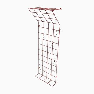 Mid-Century Geometric Wire Grid Coat Rack by Karl Fitchel, 1950s
