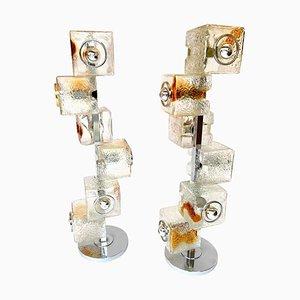 Lampadaires Sculpturaux par Toni Zuccheri pour VeArt, Italie, 1970s, Set de 2